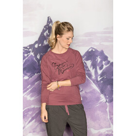 Maloja NotoddenM. T-shirt à manches longues Femme, frosted berry